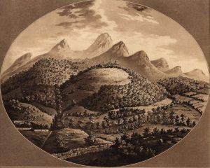 Palácio de Monserrate em 1793 - desenho de W. Baker