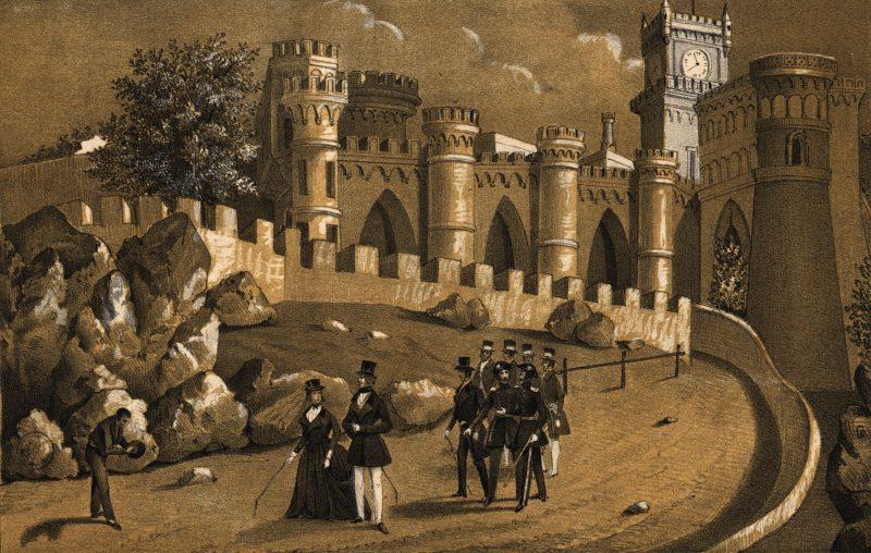 Palácio da Pena em 1842