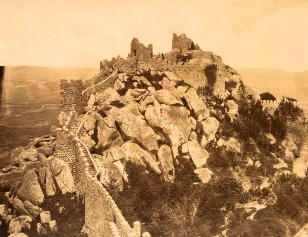 Castelo dos Mouros em Sintra antes das obras de D. Fernando II