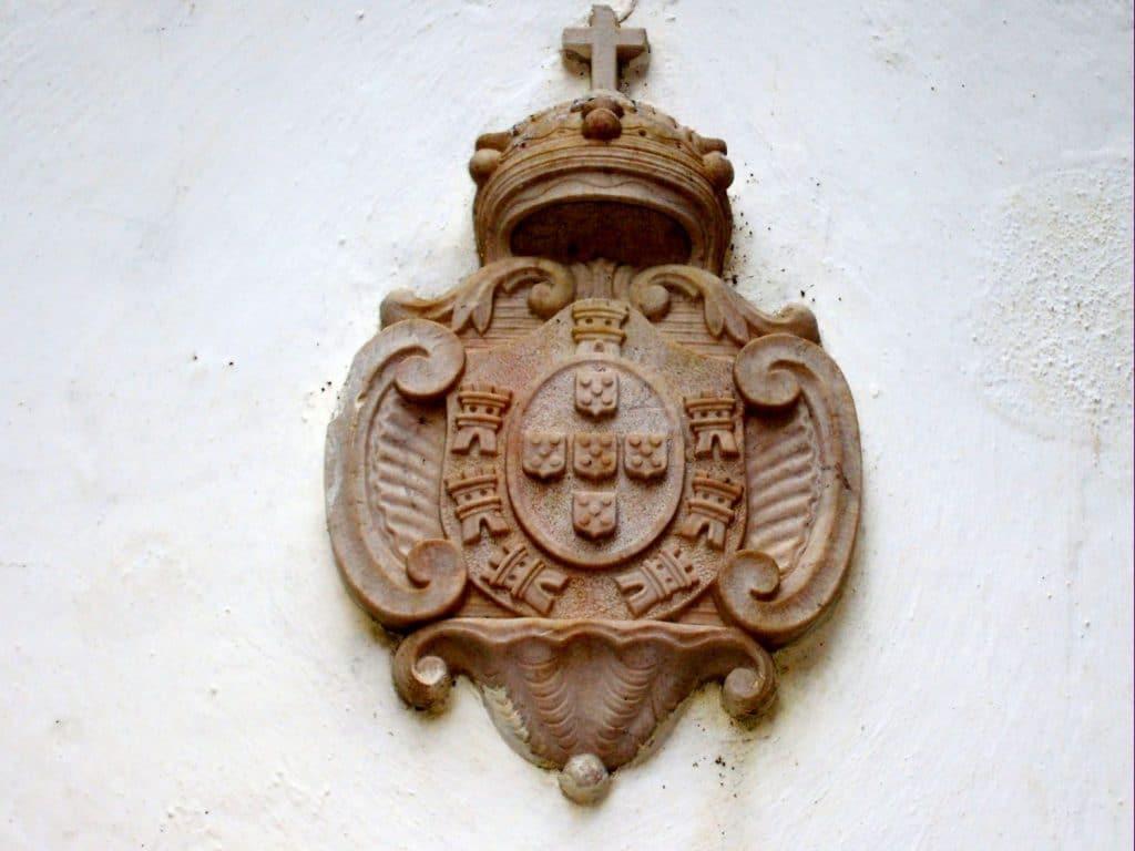Fonte dos Ladrões brazão de D. Maria I