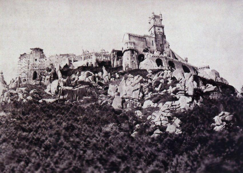 Palácio da Pena em Sintra em início de obras