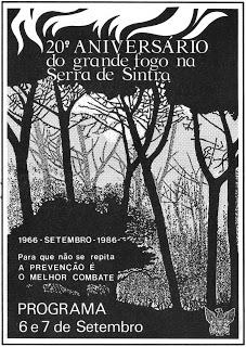 20.o aniversario do grande fogo na Serra de Sintra grande Incêndio da Serra de Sintra