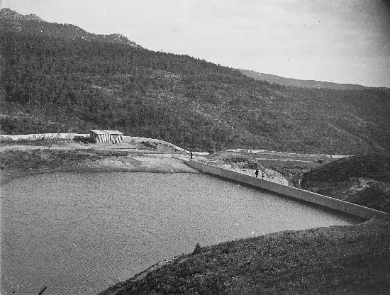 Barragem do Rio da Mula em 1930 2 Barragem do Rio da Mula