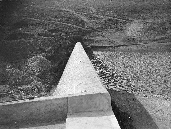 Barragem do Rio da Mula em 1930 3 Barragem do Rio da Mula