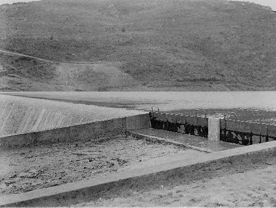 Barragem do Rio da Mula em 1930 4 Barragem do Rio da Mula