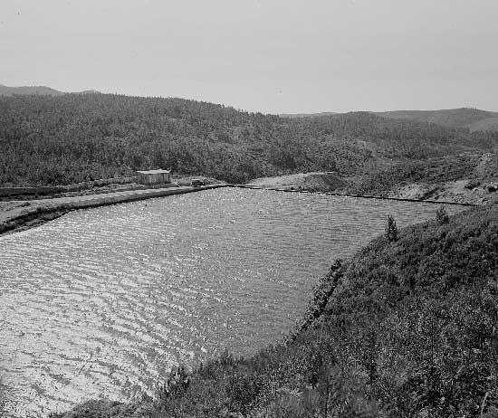 Barragem do Rio da Mula em 1930 6 Barragem do Rio da Mula