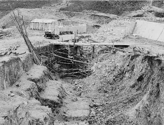 Barragem do Rio da Mula em 1936 02 Barragem do Rio da Mula