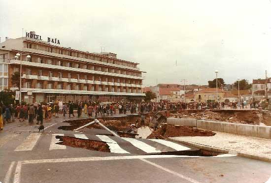 Grandes cheias de 24 novembro de 1983 em Cascais 3 Barragem do Rio da Mula