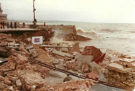 Grandes cheias de 24 novembro de 1983 em Cascais 4 Barragem do Rio da Mula