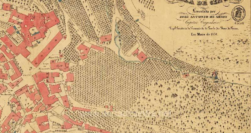Mapa de Sintra 1850 volta do duche