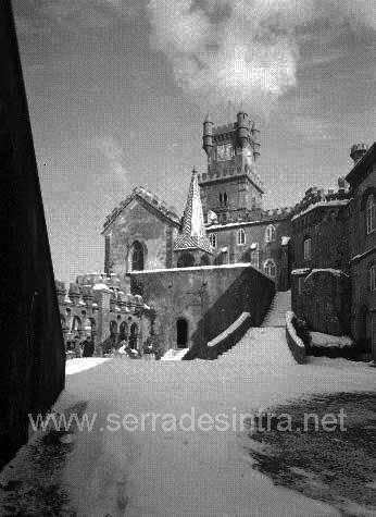 A neve em Sintra no Palacio da Pena 3 A Neve em Sintra