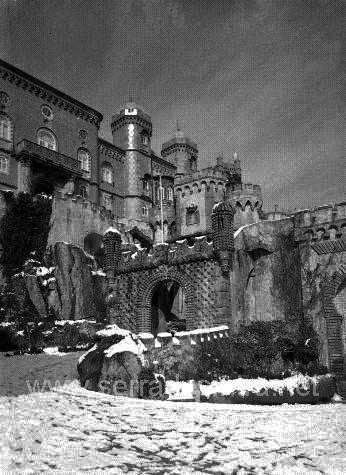A neve em Sintra no Palacio da Pena 4 A Neve em Sintra