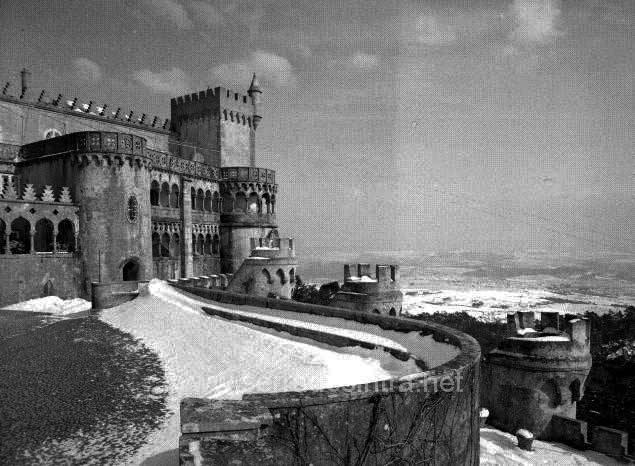 A neve em Sintra no Palacio da Pena 5 A Neve em Sintra