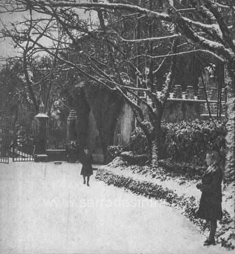 Neve em Sintra em 30 jan 1945 2 A Neve em Sintra