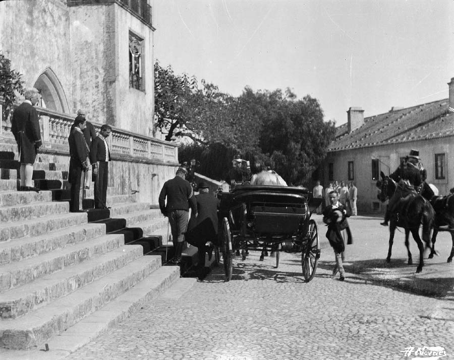 Chegada do presidente Emile Loubet na visita ao palacio da vila Visitas Reais a Sintra