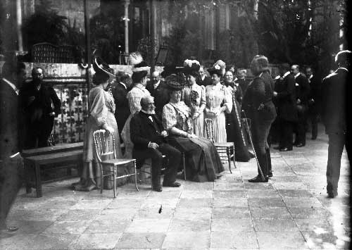 No palacio de Sintra com a Familia Real Visitas Reais a Sintra