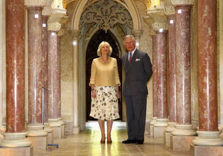 Principe Carlos e Camila Parker Duquesa da Cornualha Visitas Reais a Sintra