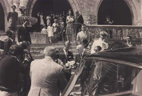 Principe Filipe Duque de Edimburgo em 1973 1 Visitas Reais a Sintra