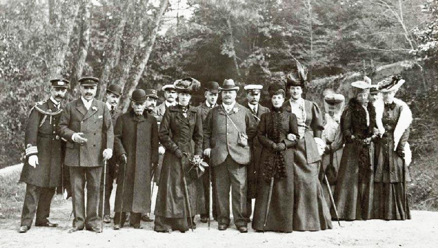 Rainha Alexandra de Inglaterra no Parque da Pena Visitas Reais a Sintra