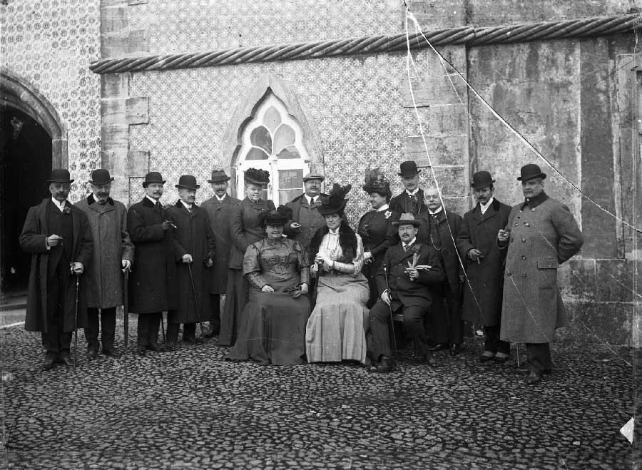 Visita da Princesa Matilde de Saxe e Principe Guilherme de Hohenzollern Visitas Reais a Sintra