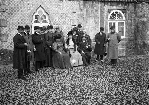 Visita da Princesa Matilde de Saxe e de seu primo Principe Guilherme de Hohenzollern ao Palacio da Pena Visitas Reais a Sintra