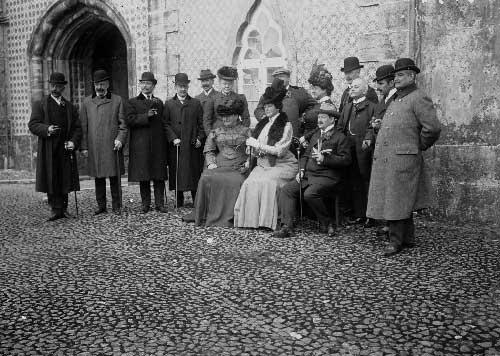Visita da princesa Matilde e do principe Guilherme de Hohenzollern ao palacio da Pena Visitas Reais a Sintra