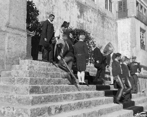 Visita de Emile Loubet ao palacio Nacional de Sintra Visitas Reais a Sintra