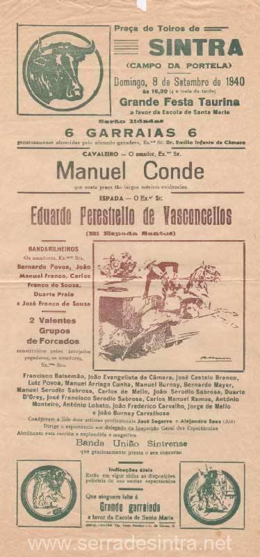 Cartaz de Tourada em Sintra 3 Praça de touros de Sintra