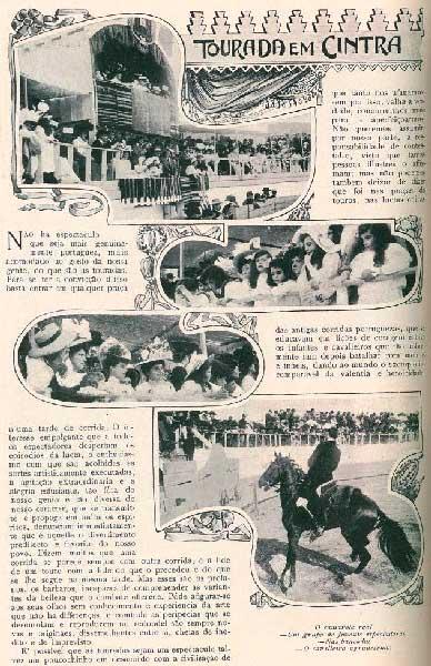 Tourada na Praca de Touros da Estefania em 1907 2 Praça de touros de Sintra