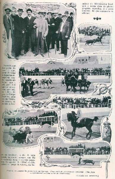 Tourada na Praca de Touros da Estefania em 1907 Praça de touros de Sintra