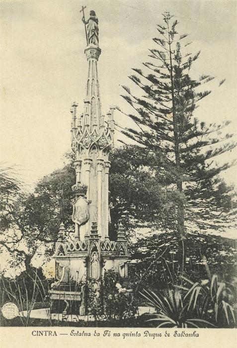 Quinta do Saldanha ou Sabuga - estátua da Fé